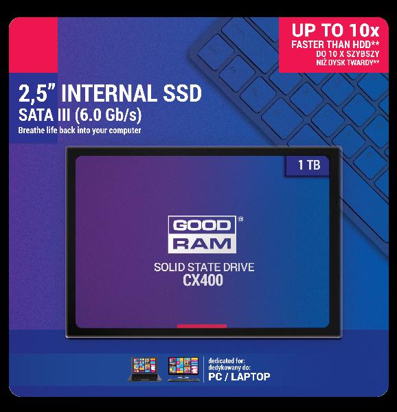 GOODRAM CX400, SSD 2.5, 1 TB SATA III, Phison S11, TLC, Retail