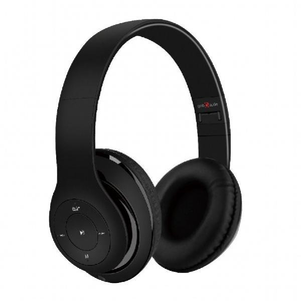 Gembird Stereo Bluetooth headset -Milano- Black, geintegreerde microfoon, 500 uur standby, 6 uur gebruik, kan ook bedraad gebruikt worden