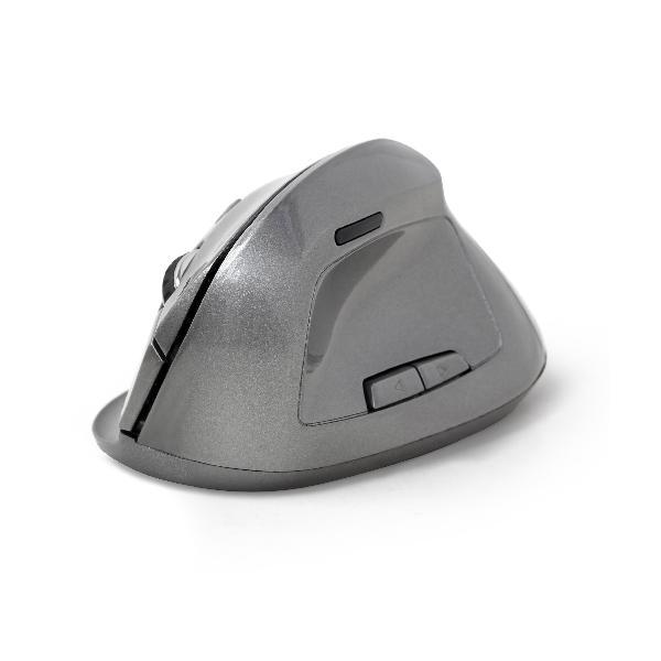 Gembird Draadloze Ergonomische muis, rechtshandig, instelbaar 800, 1200, 1600 DPI, optisch, 6-knops, met USB Nano ontvanger, 95 x 65 x 36 mm - Space Grey