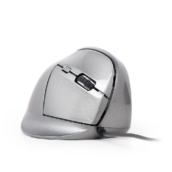 Gembird Ergonomische muis, USB 1,35m, rechtshandig, instelbaar 1200 - 3200 DPI, optisch, 6-knops, 95 x 65 x 36 mm - Space Grey