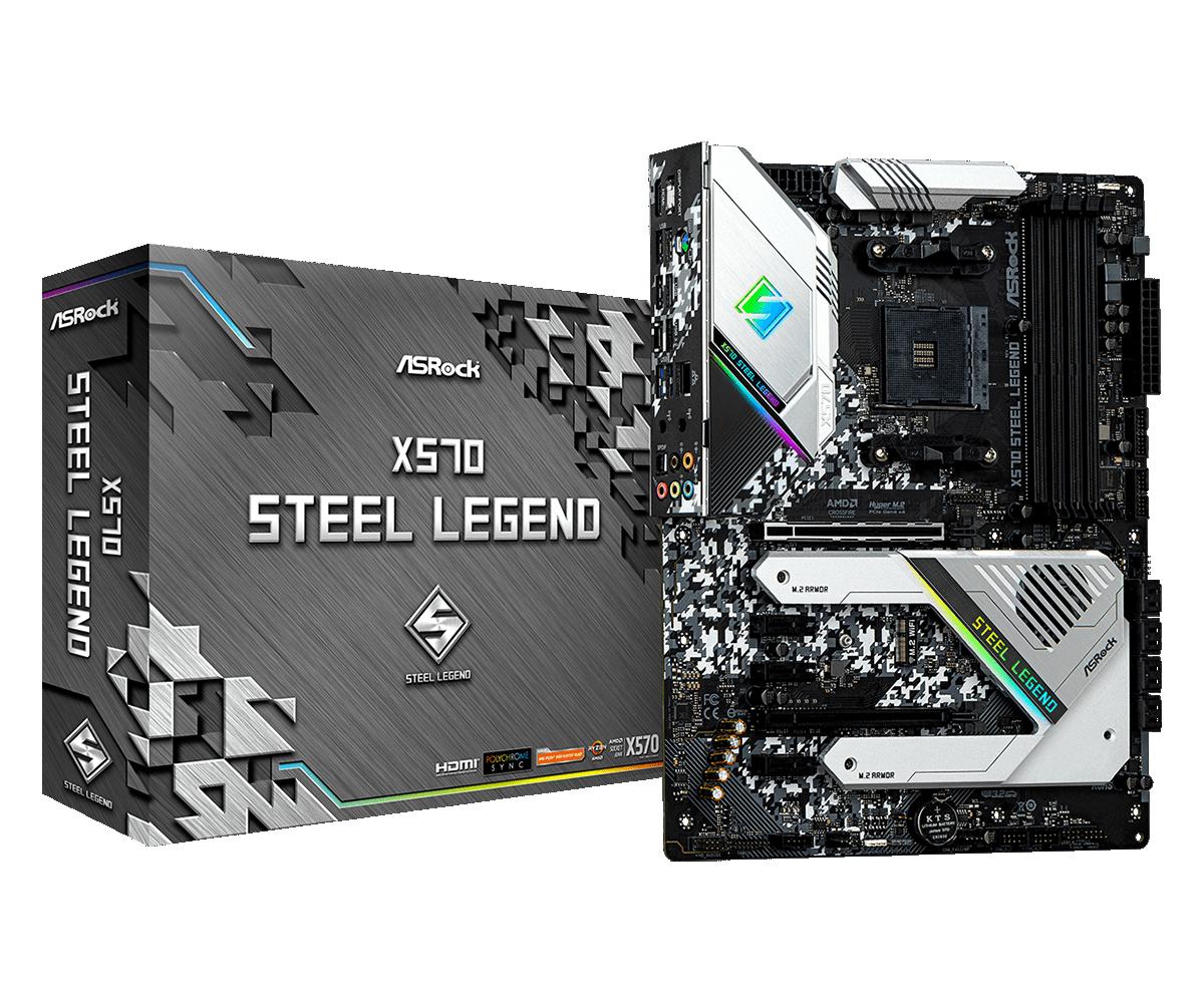 ASRock X570 Steel Legend AM4 ATX HDMI/DP DDR4 retail, PolyChrome, PCIEx4