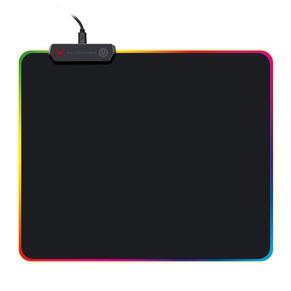 VARR Pro-Gaming mousepad 250x300x4mm LED edge black