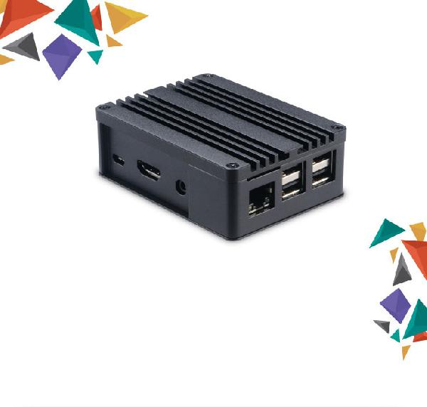 Akasa Pi III Extended Aluminium case with Thermal Modules for Asus Tinker/S and Raspberry Pi 3B+/B (SD Slot concealed)