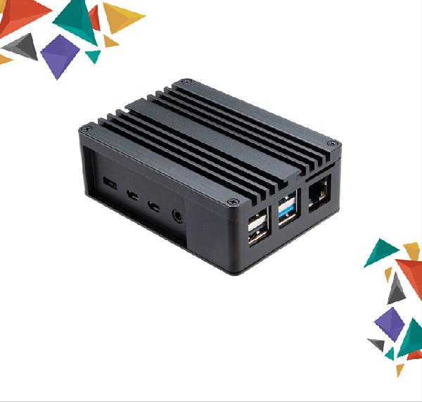 Akasa Pi 4 Extended Aluminium case with Thermal Modules for Raspberry Pi 4 Model B, (SD Slot concelaed)
