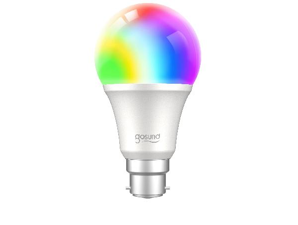 Gosund WB4 smart lamp 230V, 8W (75W eq.), 800lm, E27, RGB W dimbaar, Alexa and Google Home compatible