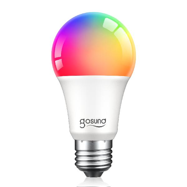 Gosund WB4 smart lamp 230V, 8W (75W eq.), 800lm, E27, RGB W dimbaar, Tuya Platform, Alexa and Google Home compatible