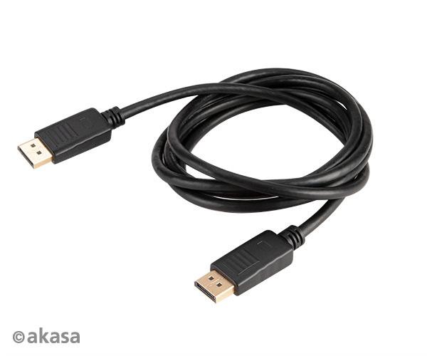 Akasa 8K@60Hz DisplayPort to DisplayPort cable, 2m, v1.4