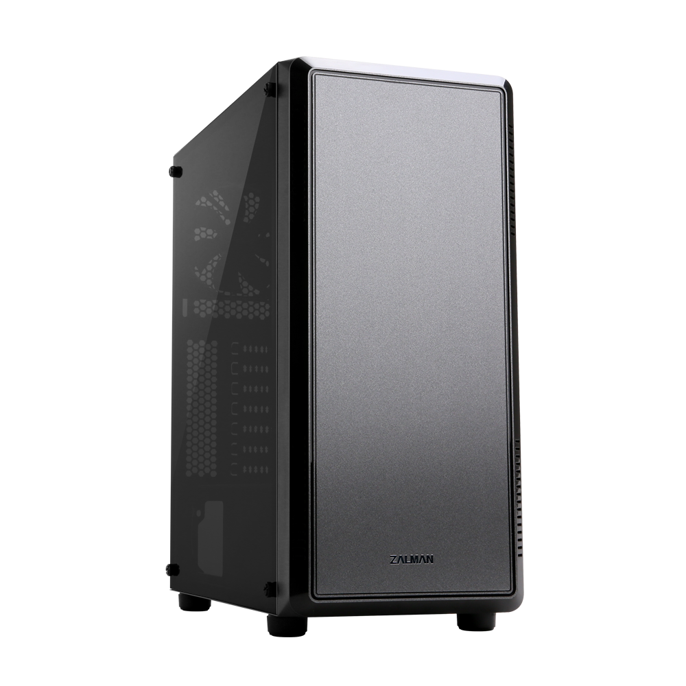 Zalman S4 ATX Mid-Tower Case, Acrylic side panel, Pre-installed fan: 1x 120mm(Front), 1x 120mm((Rear), Radiator support: 120/240(Front), 120mm(Rear), Bottom PSU Installation with shroud, Two HDD/SSD Racks