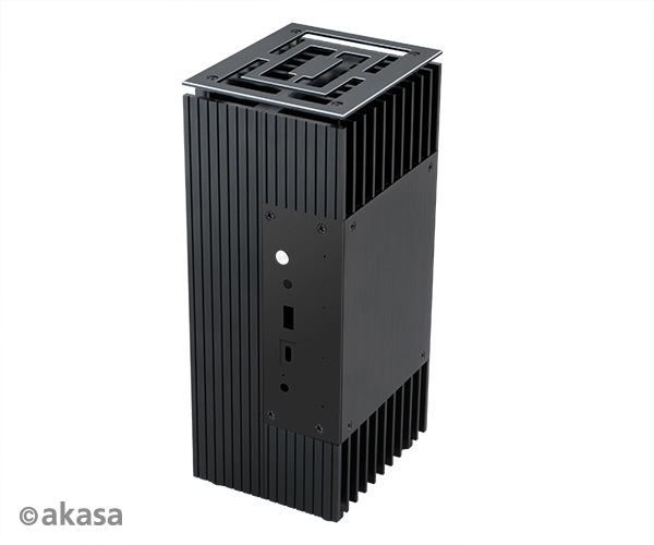 Akasa Turing FX, Fanless case NUC (Brd Specific) up to i7+ 2.5 HDD/SSD (Frost Canyon)