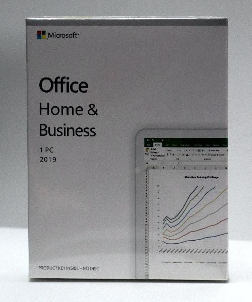 Microsoft Office Home and Business 2019, (Word, Excel, Powerpoint, Outlook) - BOX Windows - 1 user - activeer met code