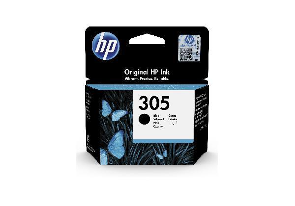HP 305 black original - 2 ml, voor deskjet 1255, 27xx deskjet plus 41xx envy 60xx envy pro 64xx