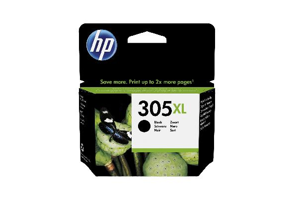 HP 305xl black high yield black original - 4 ml, voor deskjet 1255, 27xx deskjet plus 41xx envy 60xx envy pro 64xx