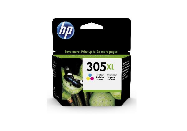 HP 305xl high yield tri-color original, 5 ml, voor deskjet 1255, 27xx deskjet plus 41xx envy 60xx envy pro 64xx