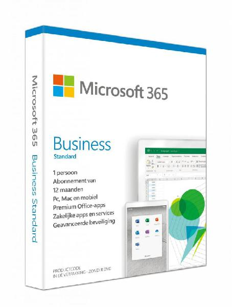 Microsoft 365 Business Standard, 1 user, 1 maand (1 year subscription)