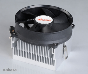 Akasa Aluminium Heatsink with AM2 retention clips and Lo Noise round 92mm round PWM fan