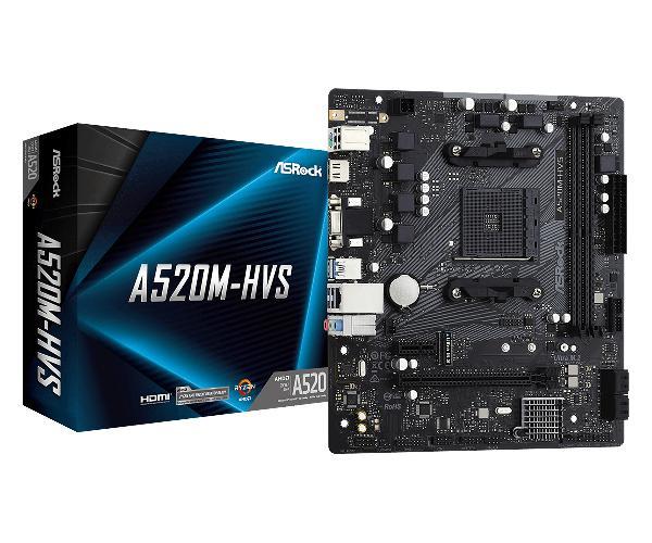 Asrock A520M-HVS - Motherboard - micro ATX - Socket AM4 - AMD A520