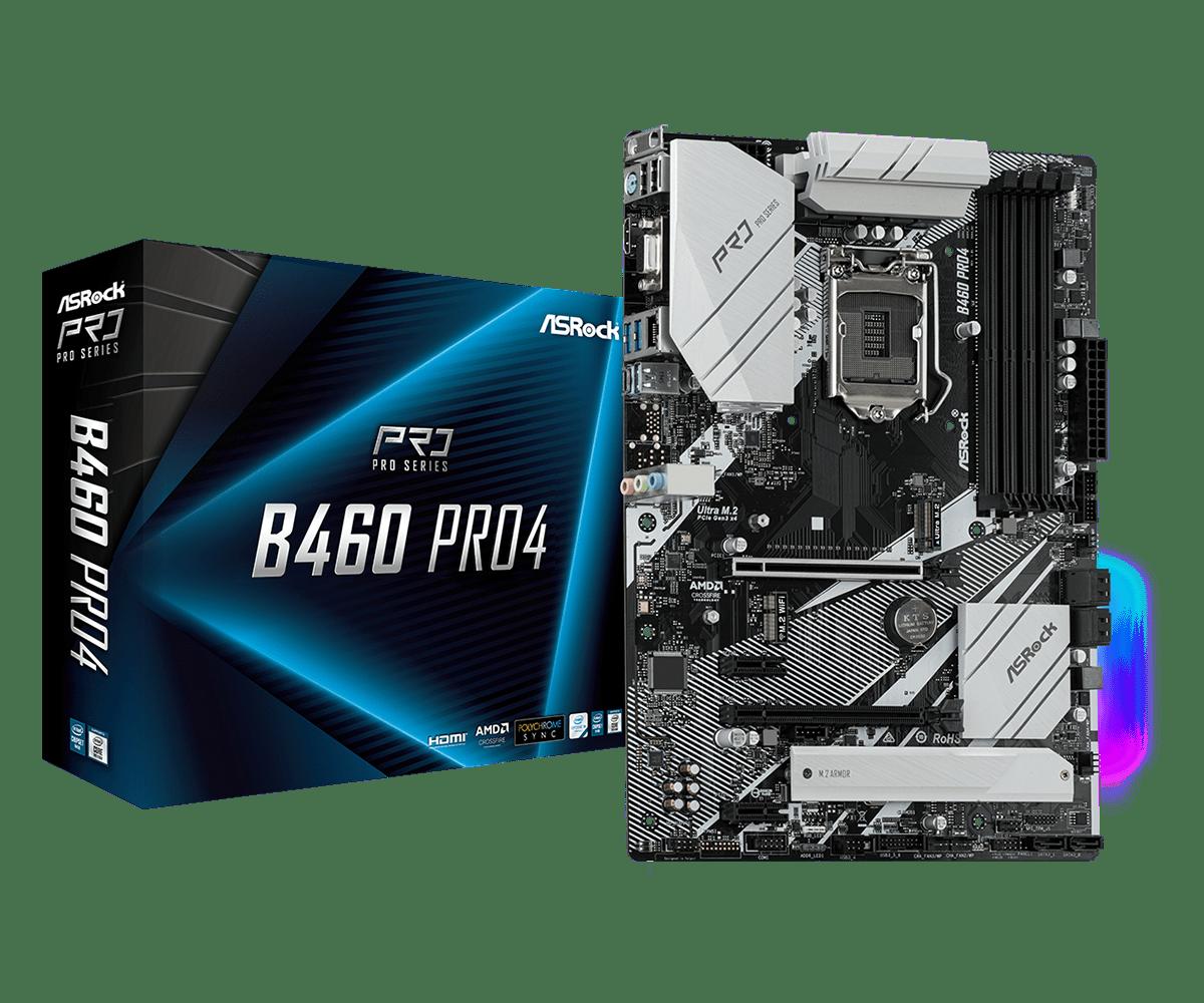 ASRock B460 Pro4, ATX - LGA1200, Intel B460 chipset, PCIex, SATA