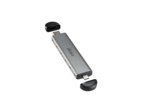 Akasa USB 3.2 Gen 2 to M.2 PCIe/SATA Combo SSD enclosure