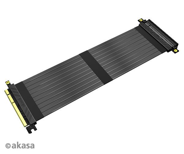 Akasa RISER BLACK X3, Premium PCIe 3.0 x 16 Riser cable,30CM