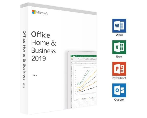Microsoft Office Home and Business 2019 Mac:, 1 User OEM (Word, Excel, Powerpoint, Outlook) - ESD