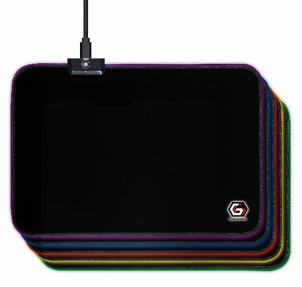 Gembird Gaming muismat met LED lichteffect, 250 x 350 x 4 mm, cable 1,5 m
