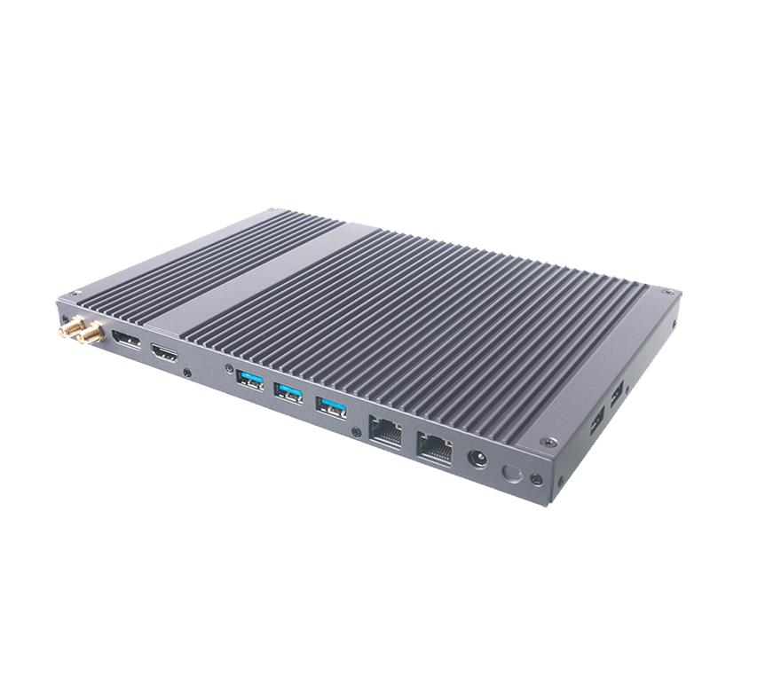 Giada MiniPC barebone DF68 i5-8365U, Fanless, 2xSO-DIMM DDR4, M2 for SSD, M2 for WiFi, 2xGBit Lan Realtek, MiniPCIe for 4G, SIM-Card slot, 5x USB3, 1xDP, 1x HDMI, audio, 1 x COM