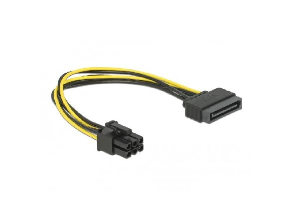 DeLOCK Stroomkabel - 21 cm SATA to PCI Express