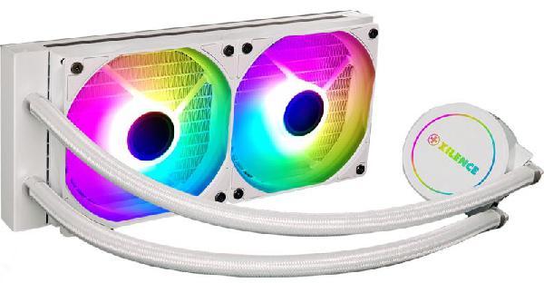 Xilence LiQuRizer Waterkoeling 240 ARGB White // LQ240.ARGB - LED lit Pump Head with RGB LED + 2x XILENCE PWM Fans transparent ARGB LED Fans (AURA etc. compatible 3PIN) - TR4/AM4/FM2+/FM2/FM1/AM3+/AM3/AM2+/AM2/ LGA 2066/2011/1151/1150/1155/1156/1366/1200