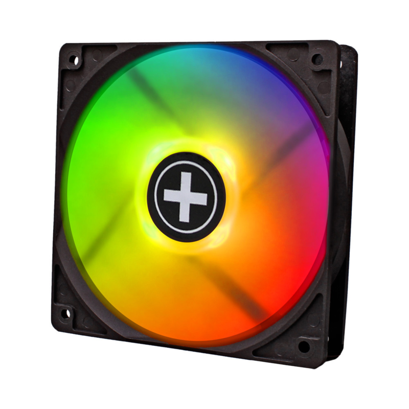XILENCE Performance A+ case fan 120 mm LED + RGB inc remote controller