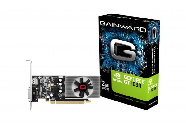 Gainward GeForce GT 1030 Graphic Card, 2 GB DDR4, Single Cooler, HDMI + DVI-D