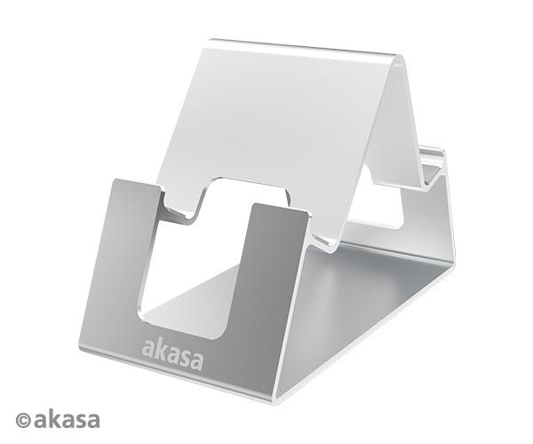 Akasa Aries Pico, aluminum phone & talbet stand, silver color