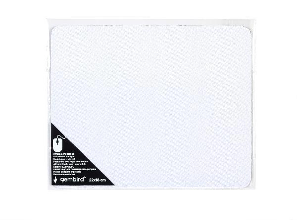 Gembird bedrukbare muismat (maat S: 220 x 180 mm, 2mm dik), wit