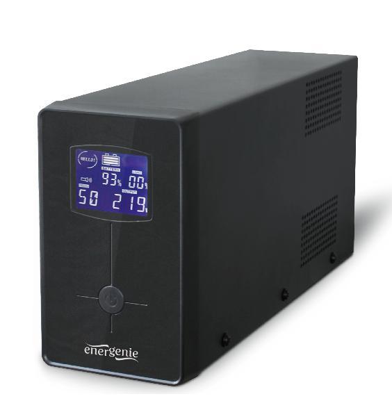 Energenie UPS / noodstroomvoeding met LCD, 650 VA