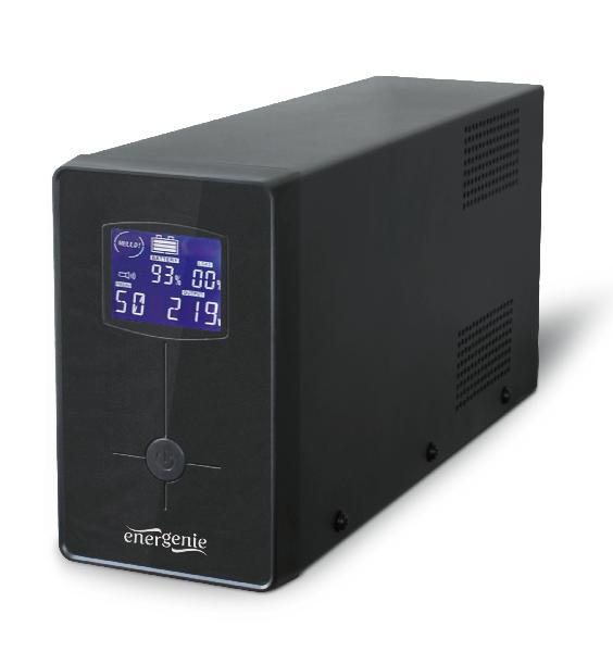 Energenie UPS / noodstroomvoeding met LCD, 1500 VA