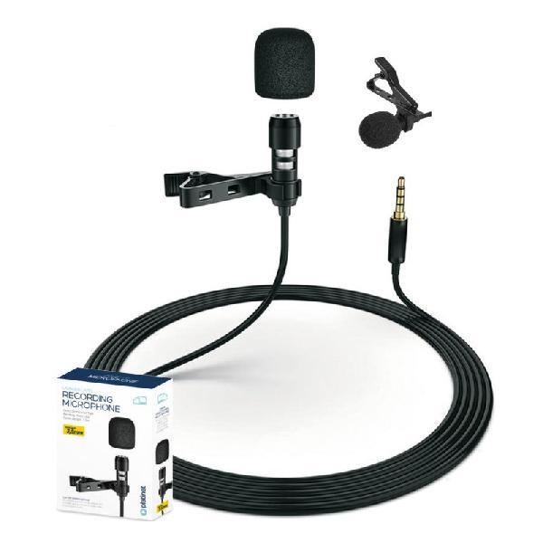Platinet omni-directionele microfoon met clip en pop-filter, kabel 1,5 m