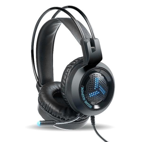 Varr Gaming USB Headset, 2x 3,5 inch audio, USB Breathing colors - black