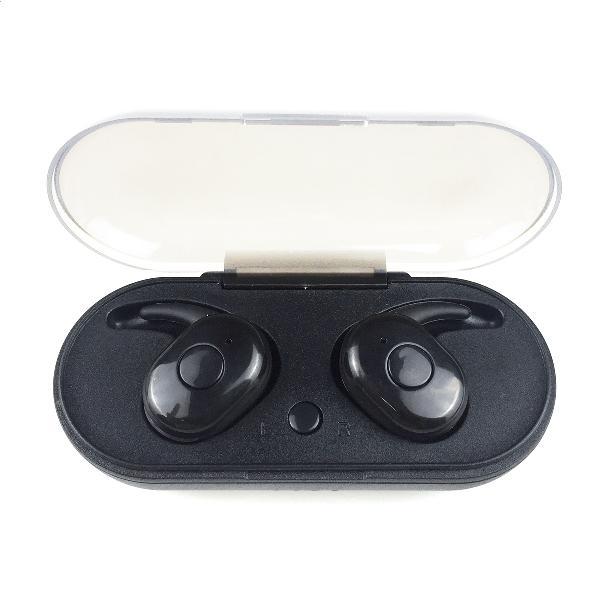 Freestyle Bluetooth v 5.0 in-ear sport headphones inc oplaadstation zwart