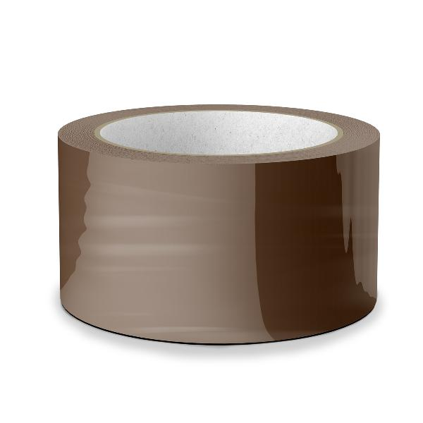 Platinet bruine verpakkingstape / plakband. 48mm x 55m - per 6