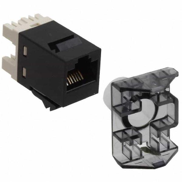 SL110 Series Modular Jack, RJ45, category 6, T568A/T568B, unshielded, without dust cover, black