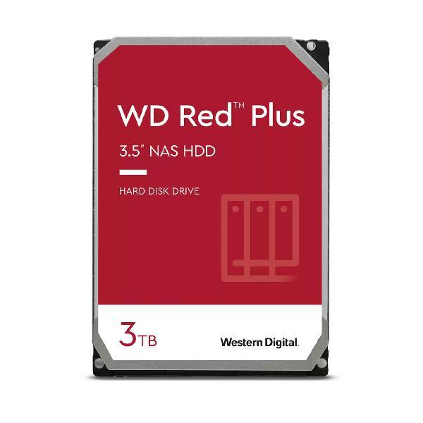 Western Digital Red Plus NAS Hard Drive WD30EFZX-3 TB -3.5 -SATA 6Gb/s -5400 tpm -buffer: 128 MB