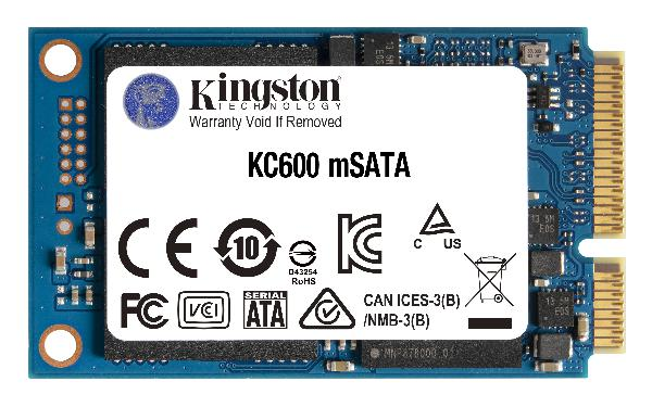 KINGSTON KC600 512GB SATA3 mSATA SSD