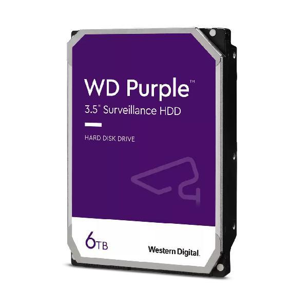 WD Purple Surveillance Hard Drive WD62PURZ, 6 TB, 3.5 SATA 6Gb s, 5640 tpm, buffer: 128 MB