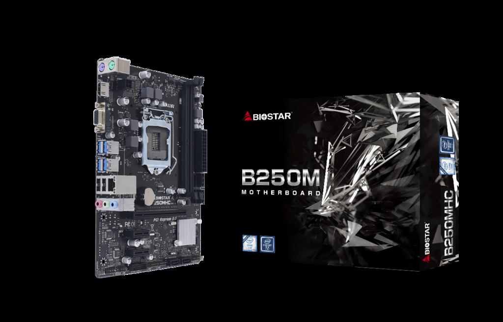 Biostar 1151 B250MHC - USB3.2/HDMI/VGA/mico ATX
