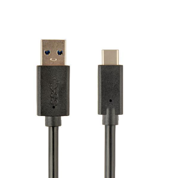 Gembird USB3.0 kabel AM-CM zwart, 0.5 meter, 600MB/s, charging 3A (36W), *USBAM *USBCM