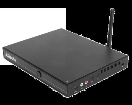 Giada MiniPC barebone D610, Intel core i3-10110U (2C/4T), 190x149x26mm, UHD Graphics10, 2x SO-DIMM DDR4, 1x M.2 Storage, 1 x M.2 WiFi 1x MiniPCIe 4G, SIM slot, 5xUSB3.2gen2, 1x RS232, 1x DisplayPort, 1 x HDMI 2.0, 1 x HDMI 1.4, TPM2.0, GBit Lan