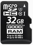 SD-kaart (micro SDHC) 32GB van Goodram, bij Warbout